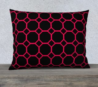 Hot Pink Honeycomb Pillow Case preview