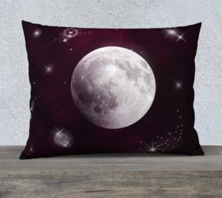 Night Sky in Purple Pillow Case preview