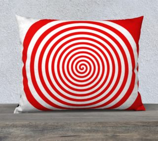 Red & White Spiral Swirl Pillow Case preview