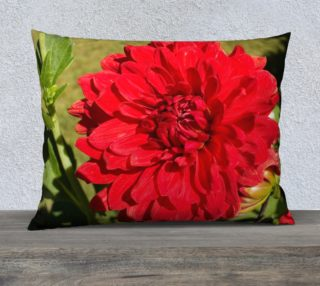 Red Dahlia Pillow Case preview