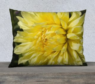 "Yellow Dahlia Pillow Case (26""x20"") preview"