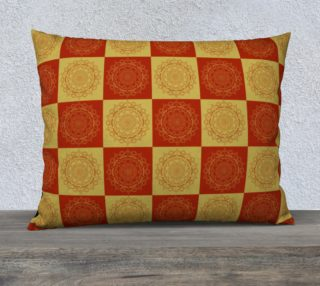 Burnt Orange Mandala Square Pillow preview