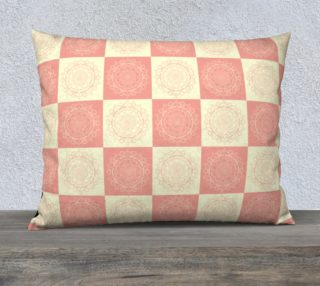 Mandala Square Flower Pink Pattern Pillow preview