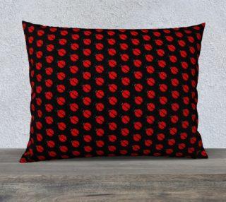 Ladybugs Pattern-Black Pillow Case preview