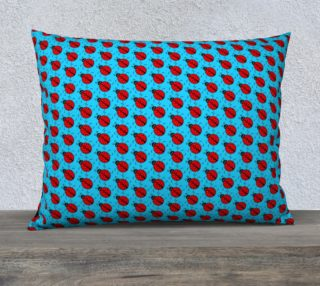 Ladybugs Pattern-Blue Pillow Case preview