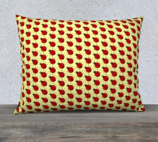 Ladybugs Pattern-Cream Pillow Case preview