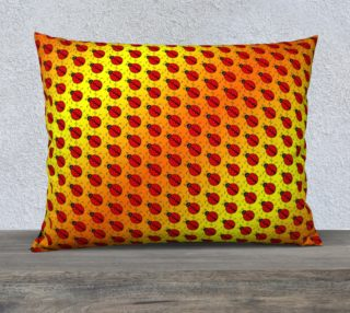 Ladybugs Pattern-Golden Glow Pillow Case preview