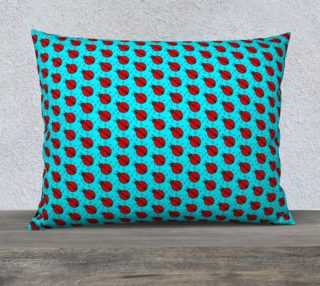 Ladybugs Pattern-Teal Pillow Case preview