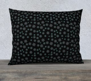 Snowflakes at Night Pillow Case preview