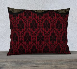 Elegant Black And Red Damask Antique Vintage Victorian Lace preview