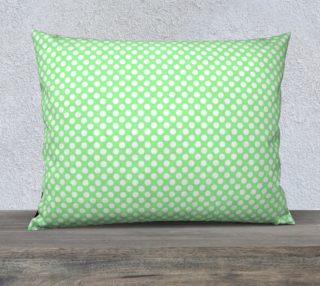 Polka Dots Pattern-Green Pillow Case preview