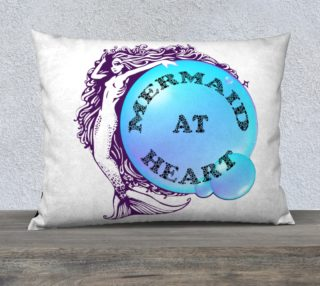 Mermaid at Heart Pillow Case preview
