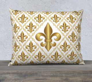 Gold Fleur-de-Lis Symbols Pattern on White preview