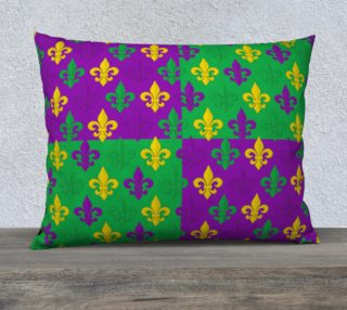 Mardi Gras Green Gold Purple Fleur-de-Lis Pattern preview