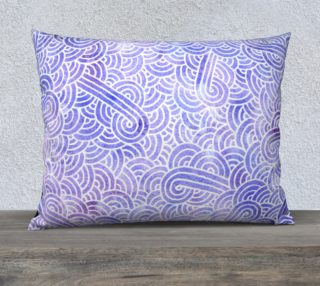 Lavender and white swirls doodles 26 x 20 Pillow Case preview