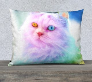 Unicorn Rainbow Cat Pillow preview