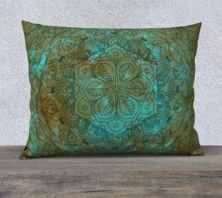 Cyan Brown Mandala Design preview