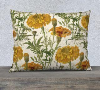 "Vintage marigolds 26"" x 20"" Pillow Case preview"