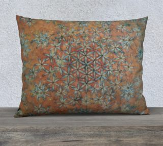 Flower of Life Transforming Floral 26x20 Pillow Case preview