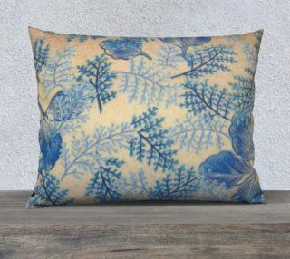 1950s Blue Ferns 26 x 20 Pillow Case preview