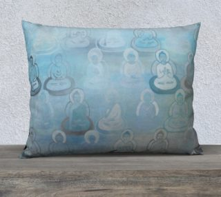 Blue Buddha Pillow - large preview