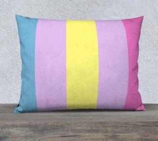 Apo Stripes 26 x 20 Pillow Case Blue Purple Yellow Pink preview