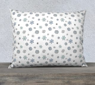 "Snowflakes Pillow Case - 26""x20"" preview"