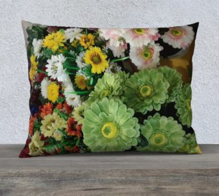 Green Flowers Pillow Case preview