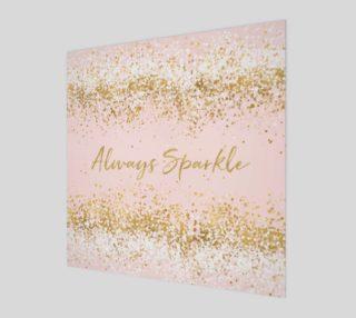 Blush Pink White Gold Confetti Always Sparkle aperçu