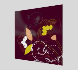 Purple Abstract Lotus Flower Wall Art poster art print canvas wood print preview