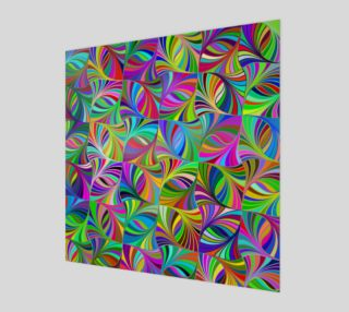Aperçu de Circular Colorful Geometric Abstract Wall Print
