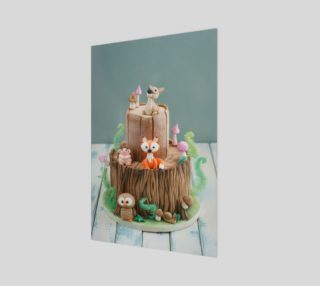 Enchanted forest cake preview