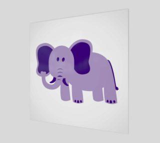 Purple Elephant Wall Art preview