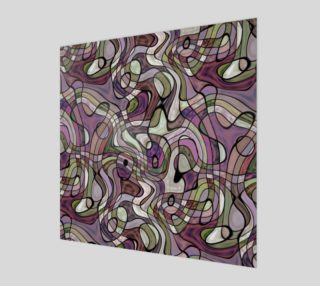 Purple Violet Warped Twisted Retro Squares Pattern preview