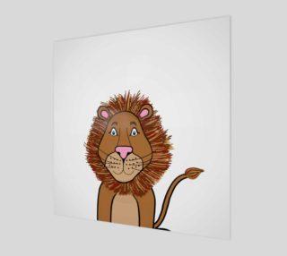 Aperçu de Leo the Lion Wood Print
