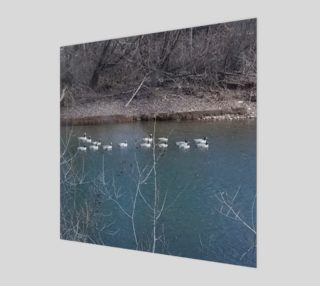 Canadian Geese On The Boise River Wall Art canvas preview
