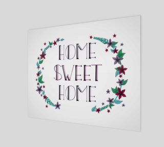 "Home Sweet Home Canvas Print - 20""x16"" preview"