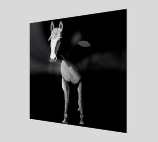 Black and white horse painting poster 1:1 preview