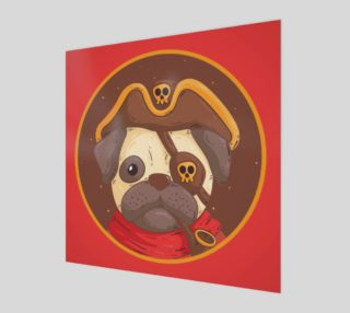 Aperçu de Adorable Pug Pirate