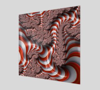 Candy Cane Fractal Wall Art Poster preview