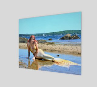 Mermaid Queen on the Beach Print  preview