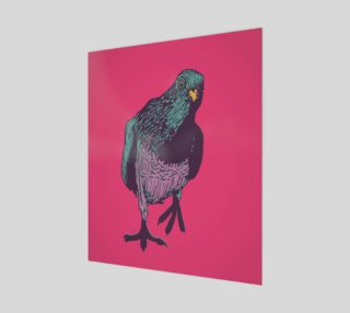 20'x24' Poster - Curious Pigeon in Bright preview