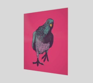 """16""""x20"""" Poster - Curious Pigeon in Bright preview"""