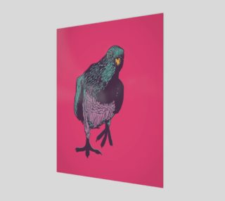 3:4 Poster - Curious Pigeon in Bright preview