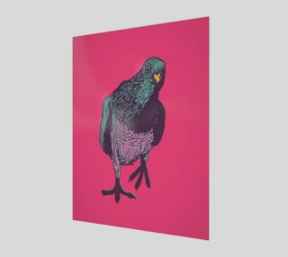 3:4 Art Print - Curious Pigeon in Bright preview