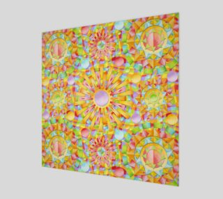 Candy Rainbow Mandala Wood Print preview