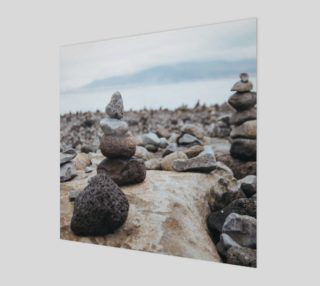 Aperçu de Zen Stones On Beach Wall Art