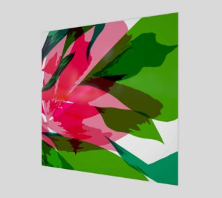 Abstract Pink & Green Flower by HOLLIDAY preview