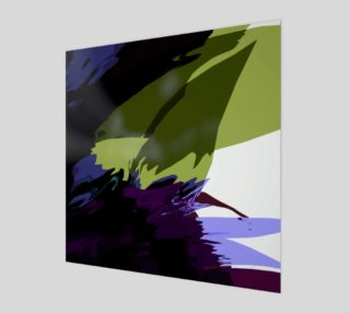 Abstract Purple & Green by HOLLIDAY preview