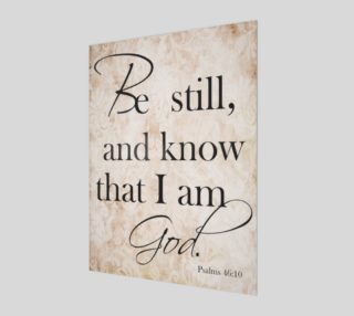 Aperçu de Be still and know that I am God